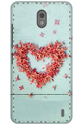 3D - Nokia 2 Spreaded Flower Heart Mobile Cover