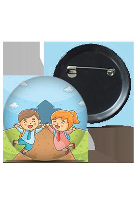 Happy Children Round Kid's Badges