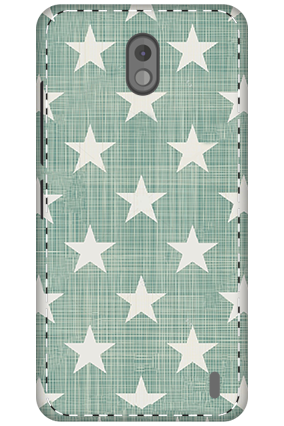 3D - Nokia 2 Stars Blink Design Mobile Cover