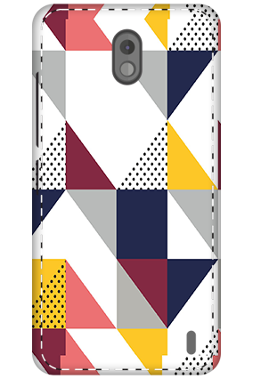 3D - Nokia 2 Geomatric Pattern Mobile Cover
