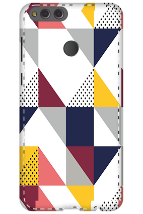 3D - Huawei Honor 7X Geomatric Pattern Mobile Cover