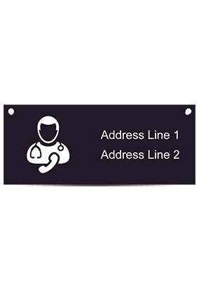 Doctor Logo Acrylic Nameplate (12 x 5 Inches)