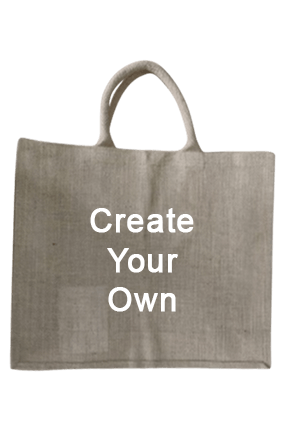 Create Your Own Rope Handle Jute Bag 14.3X16.2 Jute Bag