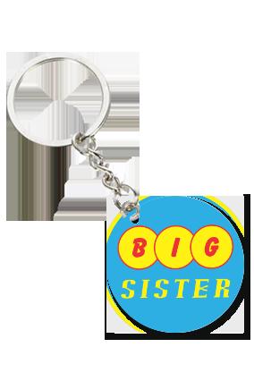 Big Sister Round Shape Key Chain
