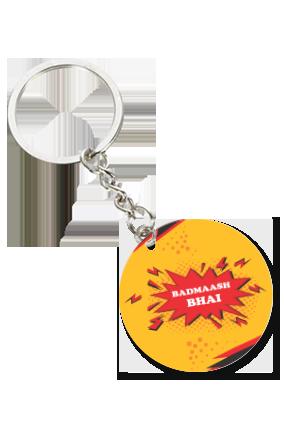 Badmaash Bhai Round Shape Key Chain