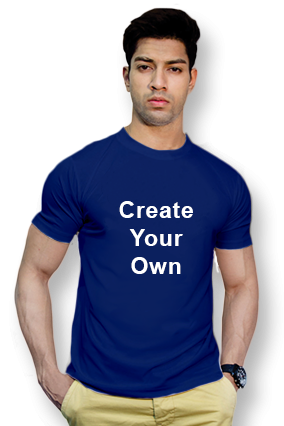 110GSM - Create Your Own Royal Blue Round-Neck Dry-Fit T-Shirt