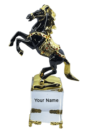 Running Horse On Crystal Base