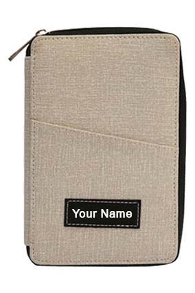 Feather touch All in 1 Passport holder (M) (with pen)-S01