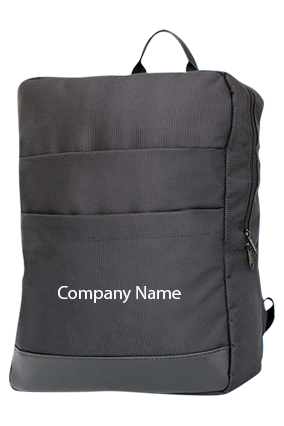 Slimz Black Backpack With Double Front Pocket By Castillo Milano-S06