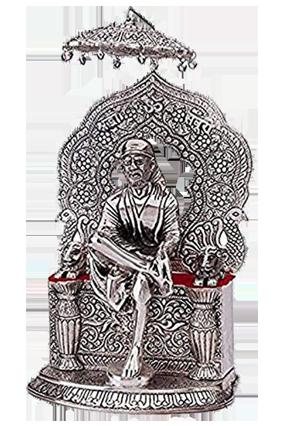 Silver Sai Baba Statue