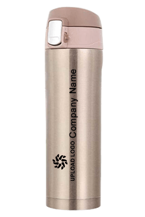 Sippon-110 Steel Touch Flask With Lock Golden