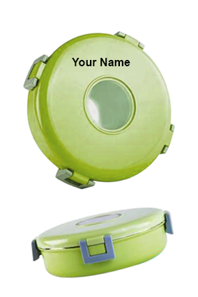 Sippon-6952 Round Steel Lunch Box Light Green