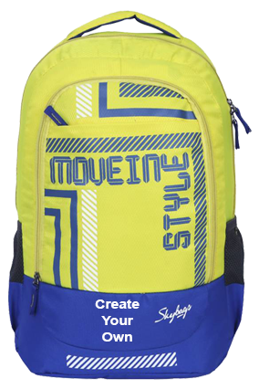 Create Your Own Skybags Luke 01 30 L Backpack(Yellow, Blue)