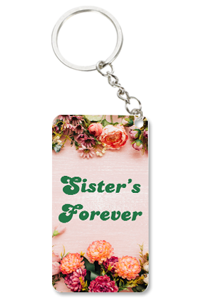Sister's Forever Small Rectangle Key Chain