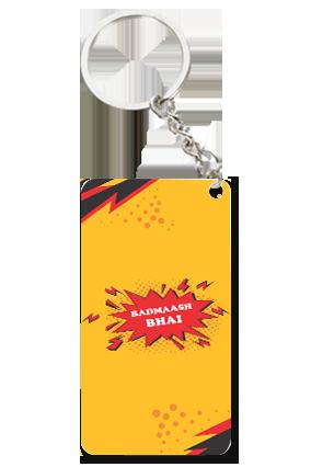 Badmaash Bhai Small Rectangle Key Chain