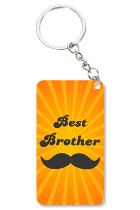 Best Brother Small Rectangle Key Chain