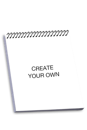 Promotional Create Your Own Top Spiral Notebook