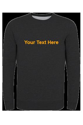 Designer Umbro - Custom Text Straight Yellow Print Black Sweatshirt