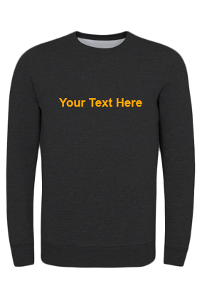 Seven - Custom Text Straight Yellow Print Black Sweatshirt