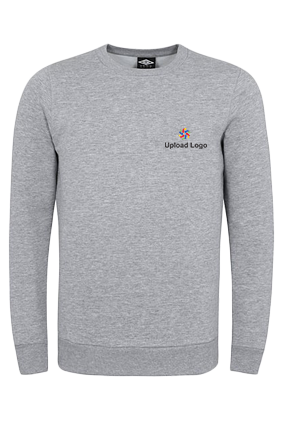 Business Upload Logo Gray Umbro Sweatshirt