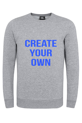 Create Your Own Gray Umbro Sweatshirt