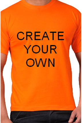 160GSM - Create Your Own Orange Round Neck Drifit Dot Net Sports Half Sleeve Men T-Shirt