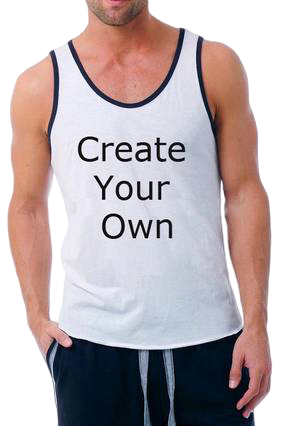 160GSM - Create Your Own Poly Cotton Sleeveless Gym and Sportswear Tank Tops Sports Tshirt or Vests for Men