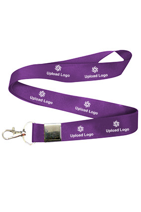 Amazing Upload Logo Violet Lanyard