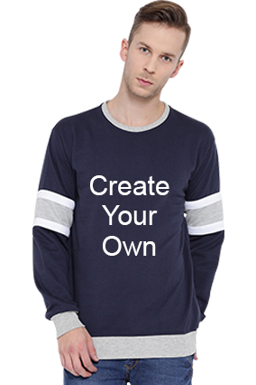 Create Your Own Sweatshirt (Navy Blue & Grey)