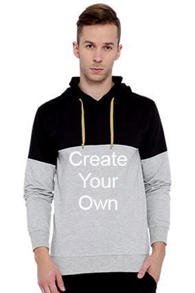 Create Your Own Hoodie (Gray & Black)