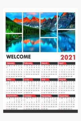 Collage Poster Calendar 2021