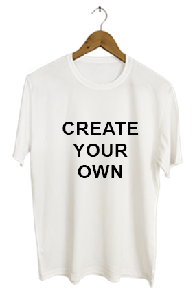 Create Your Own White Round-Neck Dry-Fit T-Shirt
