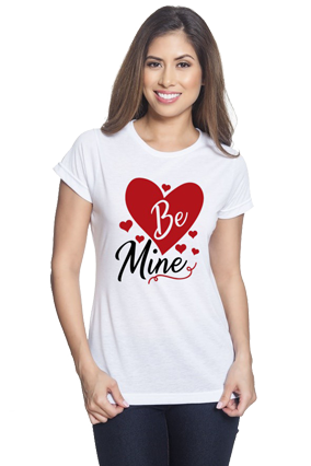 Be Mine White Round Neck Drifit Dot Net Sports Half Sleeve Girls T-Shirt