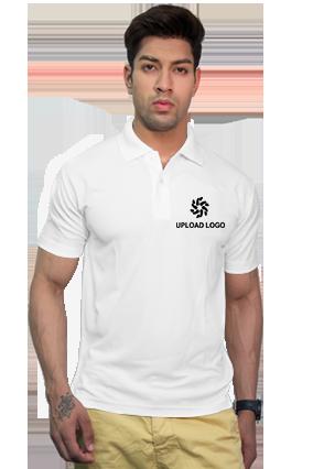 180GSM - Create Your Own White Collar Matty T-Shirt