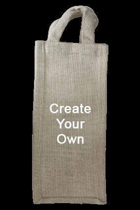 Create Your Own Wine Jute Bag 14.3X4.2 Jute Bag