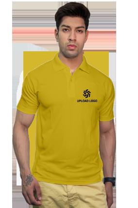 160GSM - Create Your Own Yellow Collar Matty T-Shirt