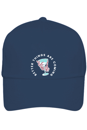 Better Things Are Coming Cotton Blue Cap