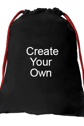 Create Your Own Black Gym Sack Bag