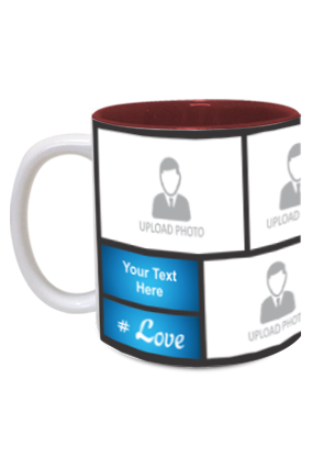 Blue Personalized Father's Day Exclusive Inside Maroon Mug