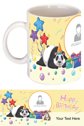 Cute Panda personalized Birthday Bone China Mug