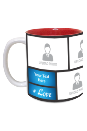 Blue Personalized Father's Day Exclusive Inside Red Mug