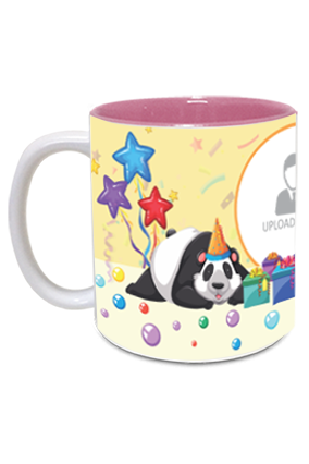 Cute Panda personalized Birthday Inside Pink Mug