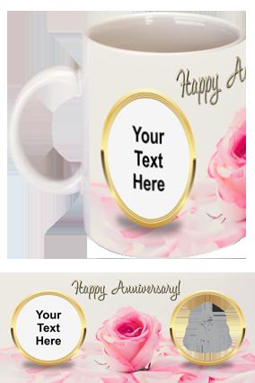 Pink Rose Customized Anniversary Mug
