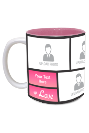 Pink Personalized Mother's Day Exclusive Inside Pink Mug