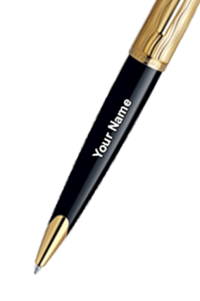 Waterman Carene Essential Black & Gold Gold Trim Ball Pen