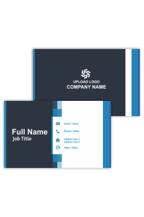 Blue and Black Trendy Bank Visiting Card
