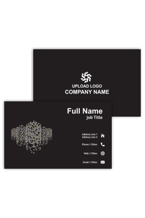 Shining Building Lights Architecture Visiting Card