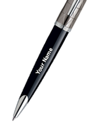 Waterman Carene Essential Contemporary Black & Gun Metal St Ball Pen