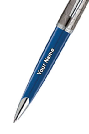 Waterman Carene Essential Contemporary Blue & Gun Metal St Ball Pen