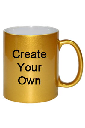 Create Your Own Golden Coffee Mug